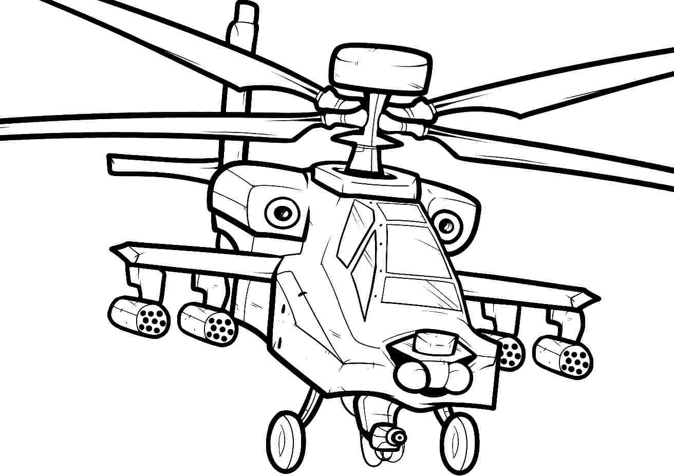 1312x927 Coloring Pages Draw A Helicopter