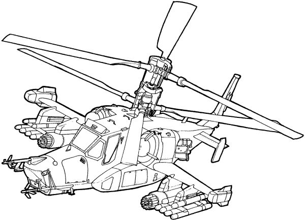 Helicopter Drawing For Kids