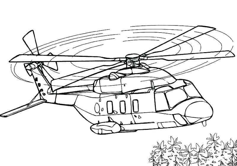 800x560 Helicopter Coloring Pages H Is For Page