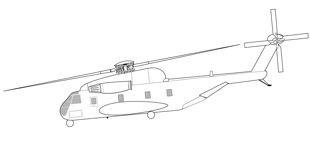 1024x513 Helicopter Sikorsky Ch 53 Sea Stallion Coloring Page