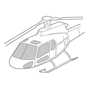 350x350 Helicopter Windows