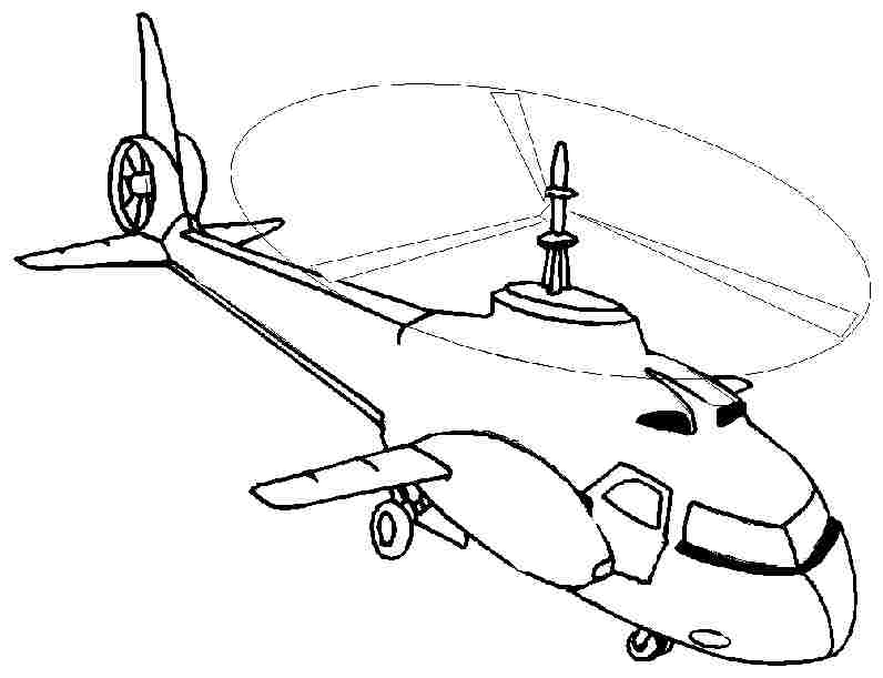 796x611 Parts Of A Helicopter Colouring Pages