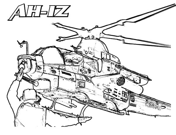 600x463 Ah 1z Apache Helicopter Coloring Pages Best Place To Color