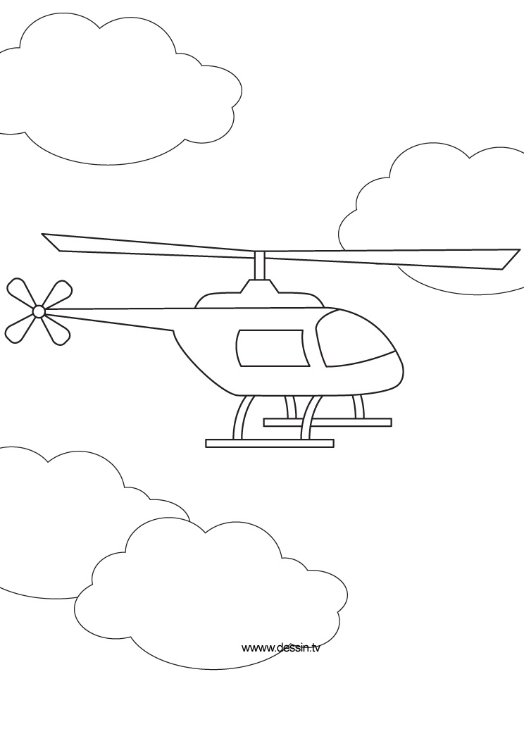 744x1052 Coloring Helicopter