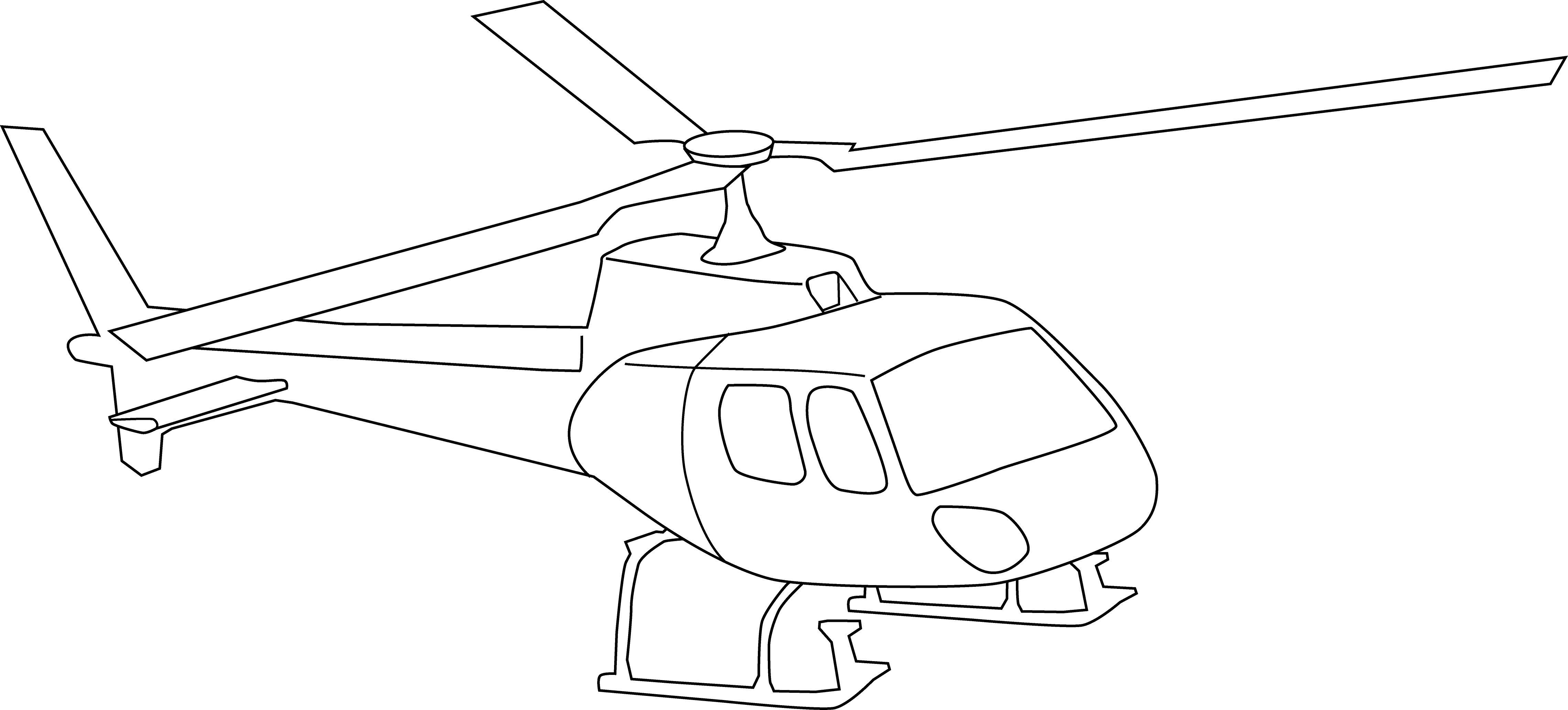 4558x2063 Drawing Clipart Helicopter 3239530