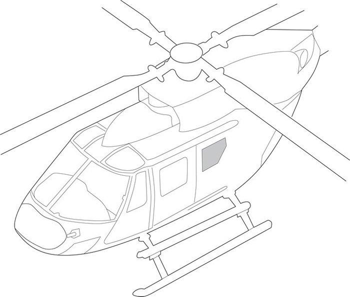 700x593 Eurocopter Bk 117 Series, Fuselage Windows