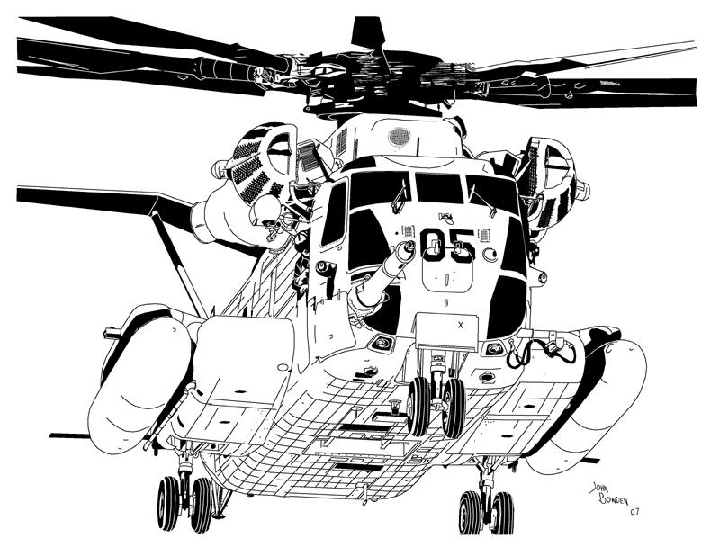 800x618 Sikorsky Ch 53e Sea Stallion By Bowdenja