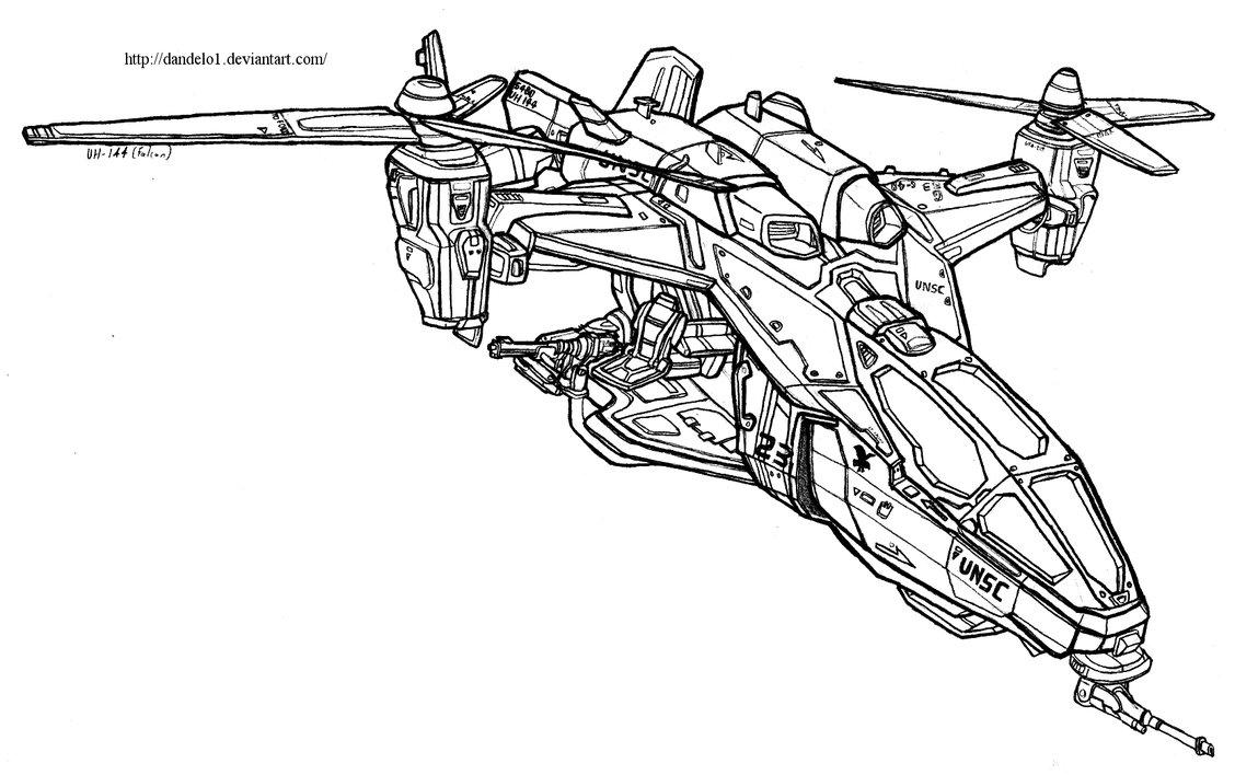 1128x708 Utility Helicopter Model 144 (Falcon) By Dandelo1