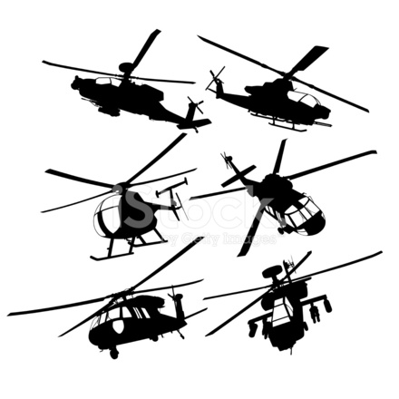 440x440 Collection Of Military Transport And Combat Helicopters Stock