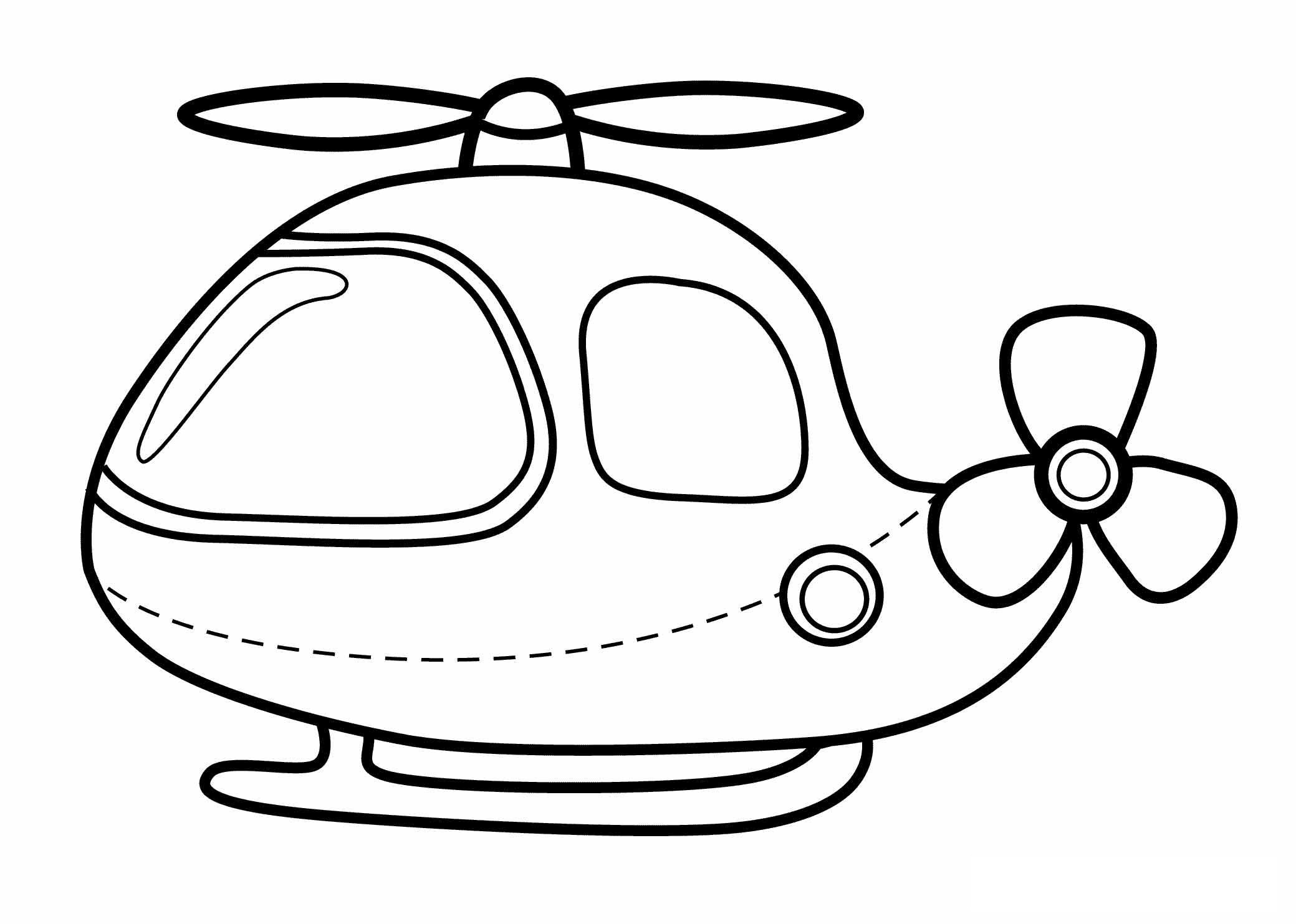 2079x1483 Free Printable Helicopter Coloring Pages For Kids
