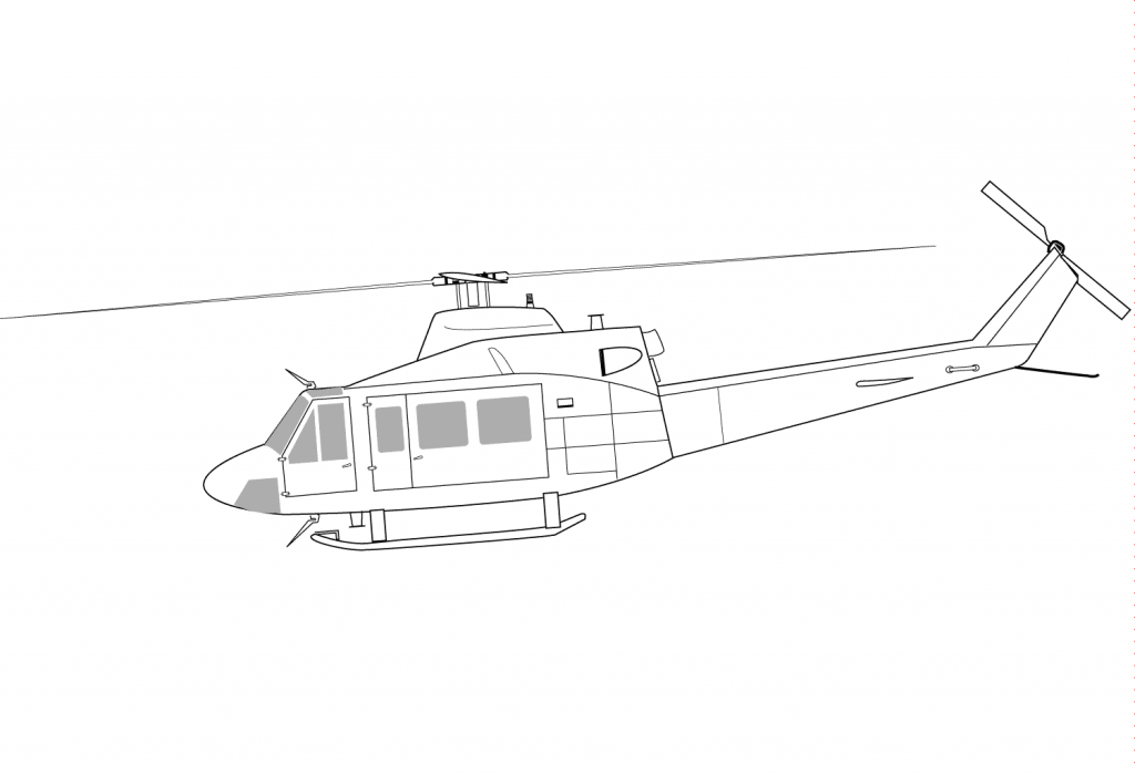 1024x699 Helicopter Bell Ch 146 Griffon Coloring Page
