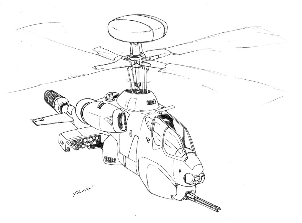 1024x756 Bell Rah 71 Algonquin Scout Attack Helicopter Mecha Journal