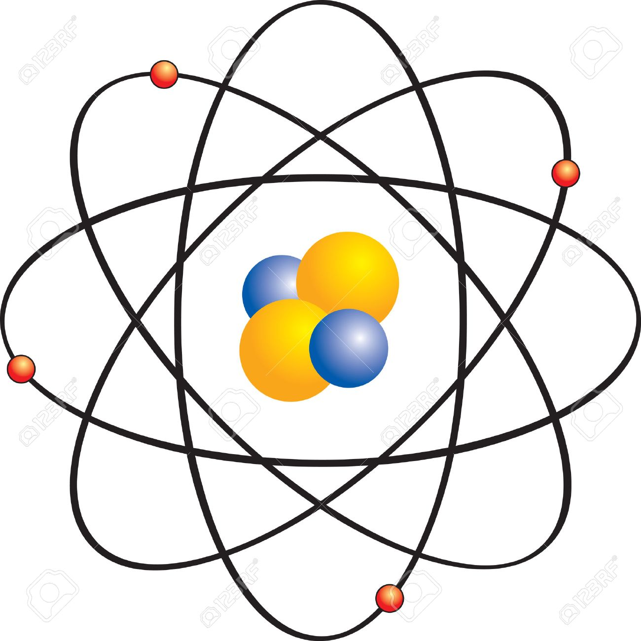 1300x1300 Atom With Electron Orbits Royalty Free Cliparts, Vectors,