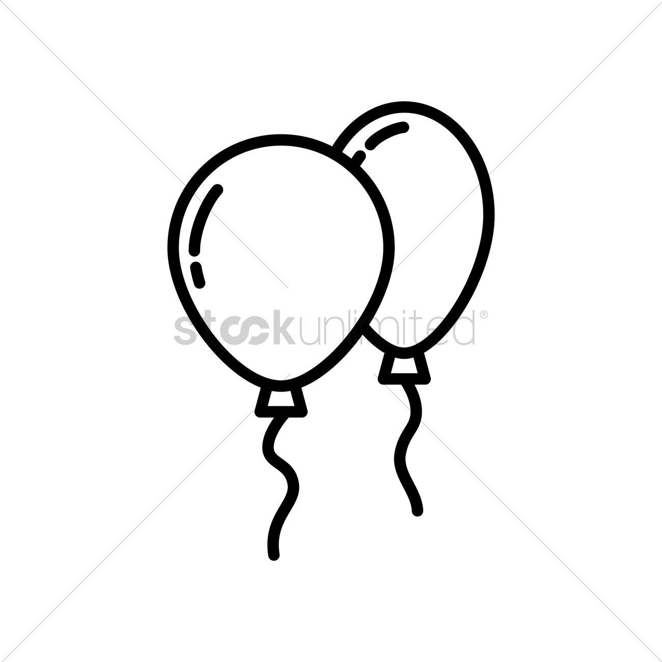 1300x1300 Helium Balloons Vector Image