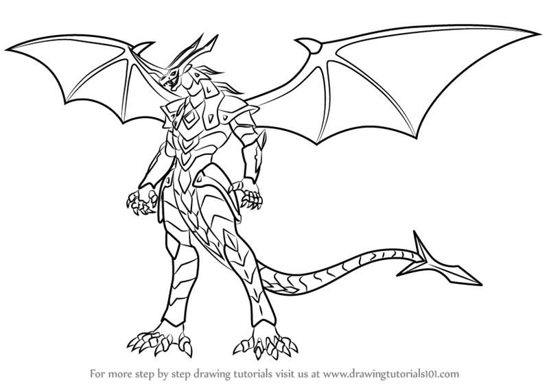 800x567 Learn How To Draw Helix Dragonoid From Bakugan Battle Brawlers