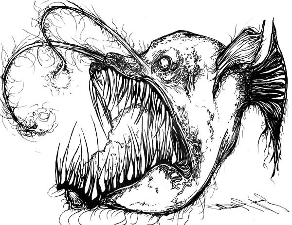 600x463 Angler Fish Is Fish From Hell Coloring Pages Best Place To Color