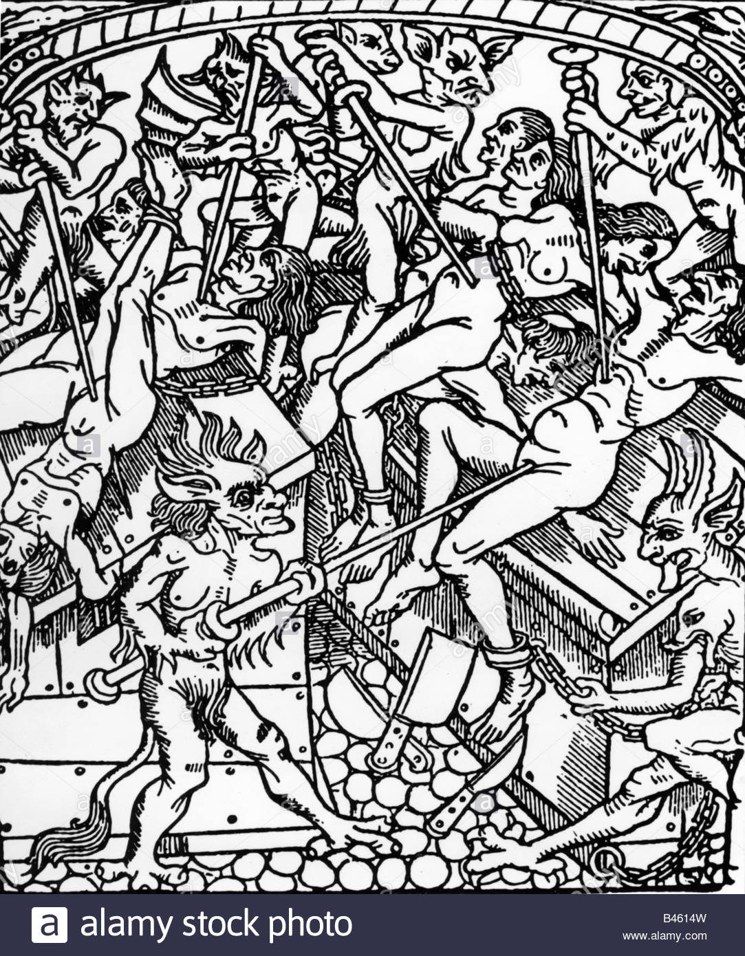 1083x1390 Superstition, Hell For Women, Woodcut, 16th Century, Devil, Devils