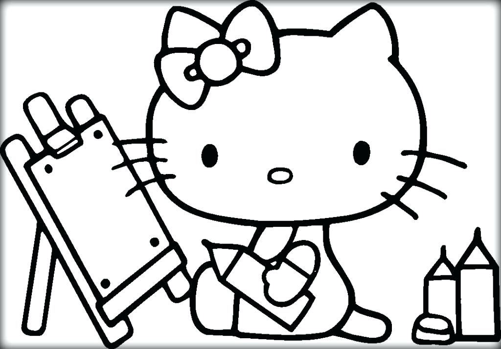 1024x714 Hello Kitty Coloring Pages Hello Kitty Drawing Coloring Sheets