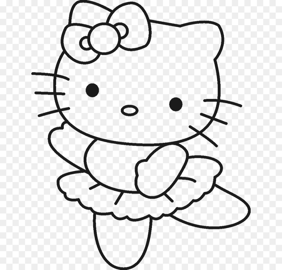 900x860 Hello Kitty Coloring Book Drawing Page