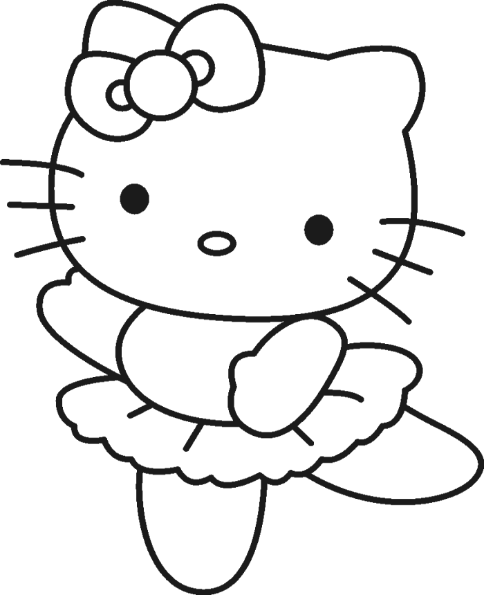 700x860 Hello Kitty Was Wearing A Cute Costume Coloring Page