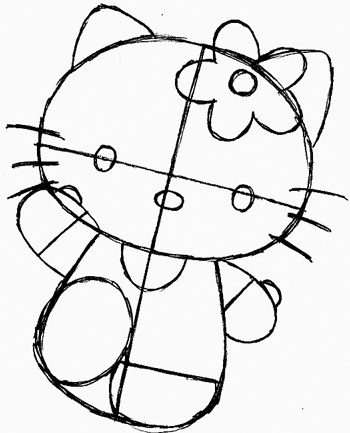 350x433 How To Draw Hello Kitty With Easy Step By Step Drawing Lesson