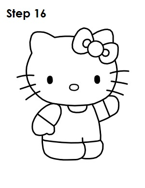 300x388 How To Draw Hello Kitty