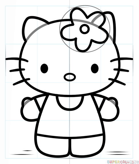 487x575 How To Draw Hello Kitty Step By Step Drawing Tutorials