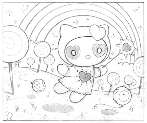 600x500 Tara Mcpherson Art Drawings Drawings Hello Kitty Drawing