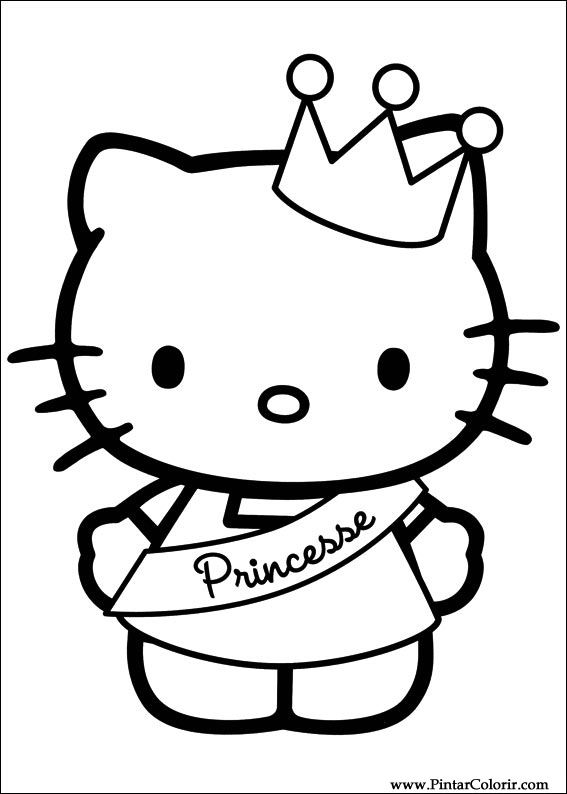 567x794 Drawings To Paint Amp Colour Hello Kitty