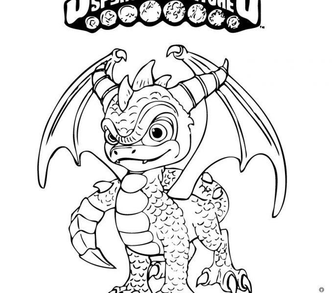 678x600 Skylanders Spyro Coloring Pages Kids Coloring