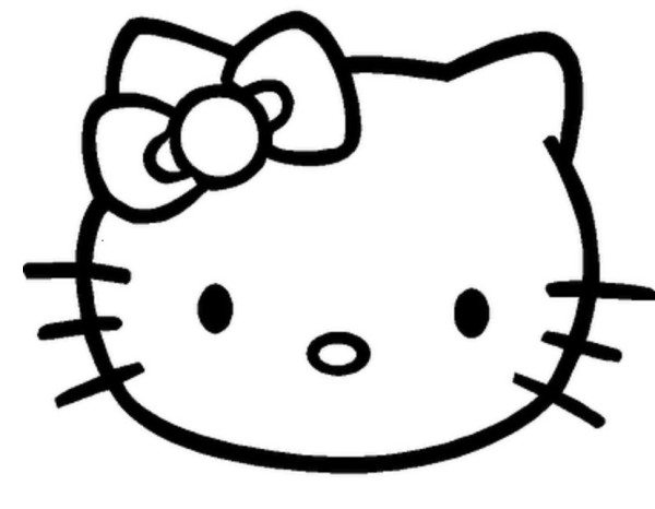 600x466 Hello Kitty Face Coloring Pages