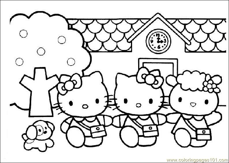 794x567 Hello Kitty Coloring Page