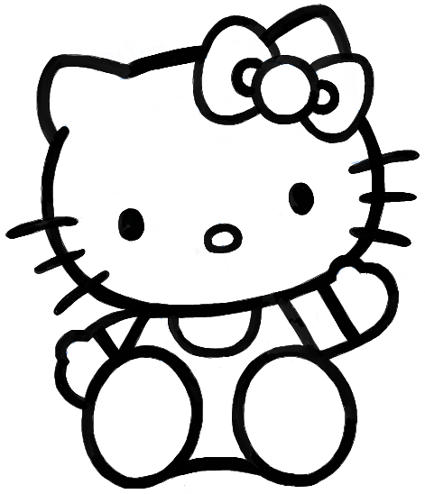 471x548 How To Draw Hello Kitty Sitting With Simple Steps For Kids