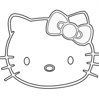320x320 Tag For Kitty Drawing Hello Kitty Cartoon Drawing Lol Rofl Com