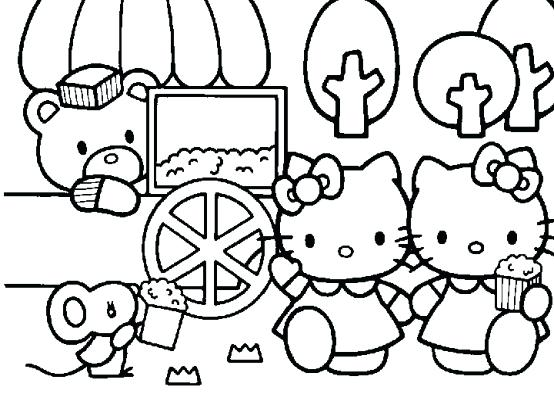 554x416 Hello Kitty Color Hello Kitty Coloring Pages For Hello Kitty