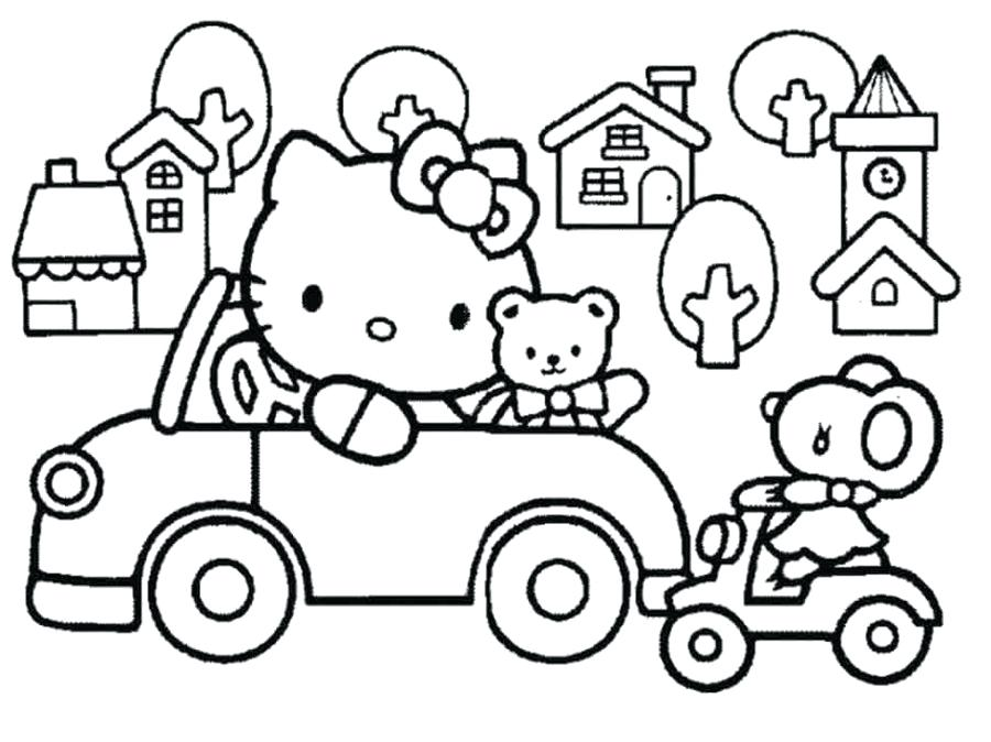 900x674 Hello Kitty Coloring Pages Drawing Sheets