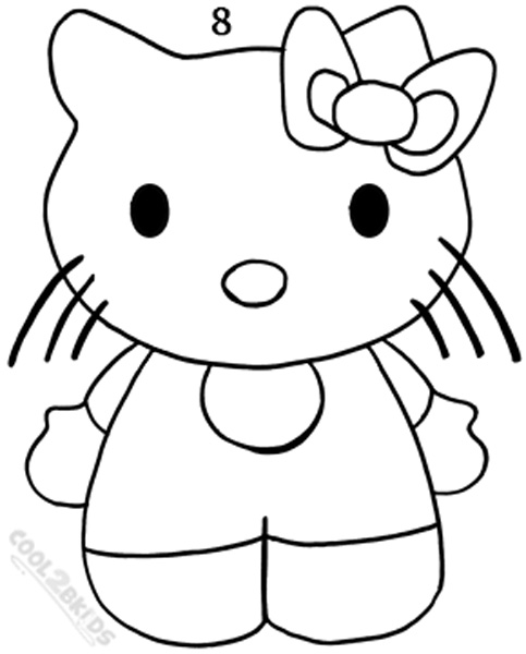 483x600 How To Draw Hello Kitty (Step By Step Pictures) Cool2bkids