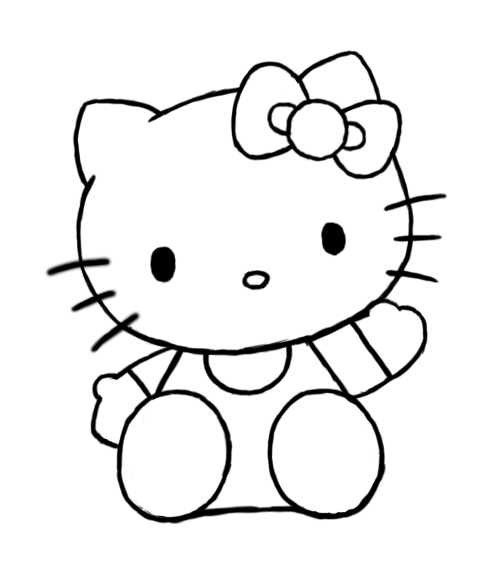 484x572 Hello Kitty Drawing Pictures ~ 3d Drawing