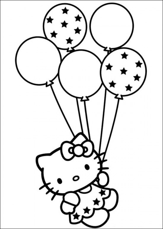 550x770 Hello Kitty Coloring Pages Free To Print 64 Picture 9039s Party