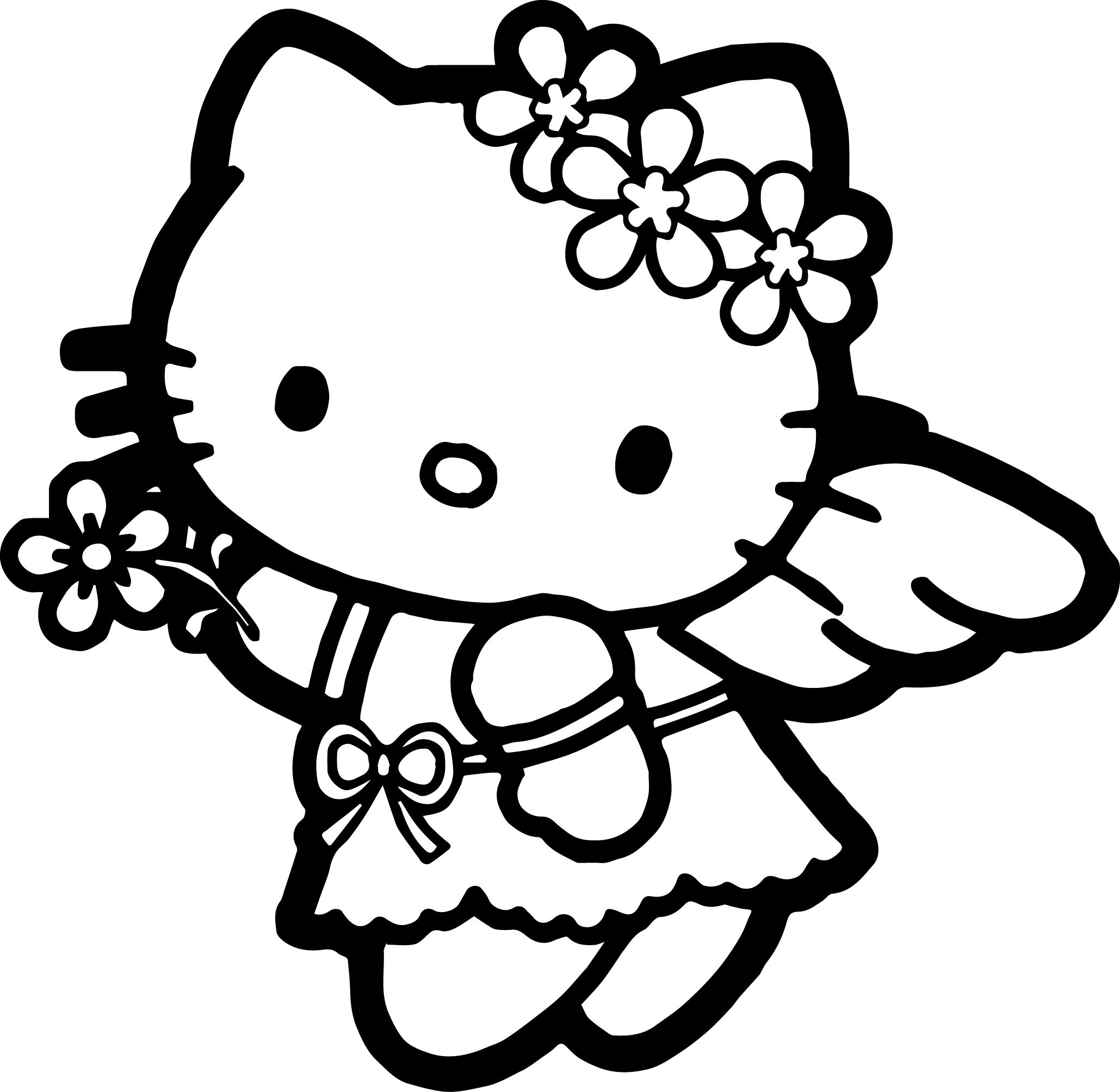 It is a picture of Critical Hello Kitty Coloring Images