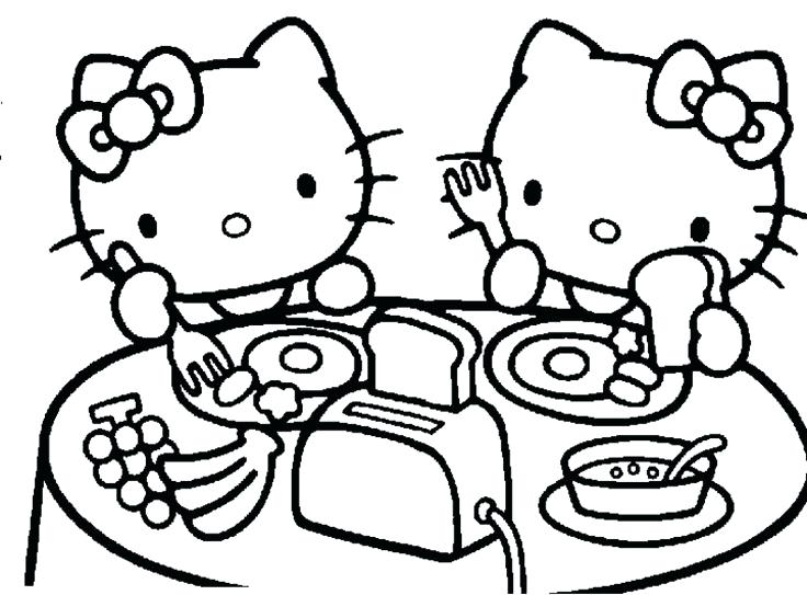 736x543 Extraordinary Charming Hello Kitty Coloring Picture Crayola Photo
