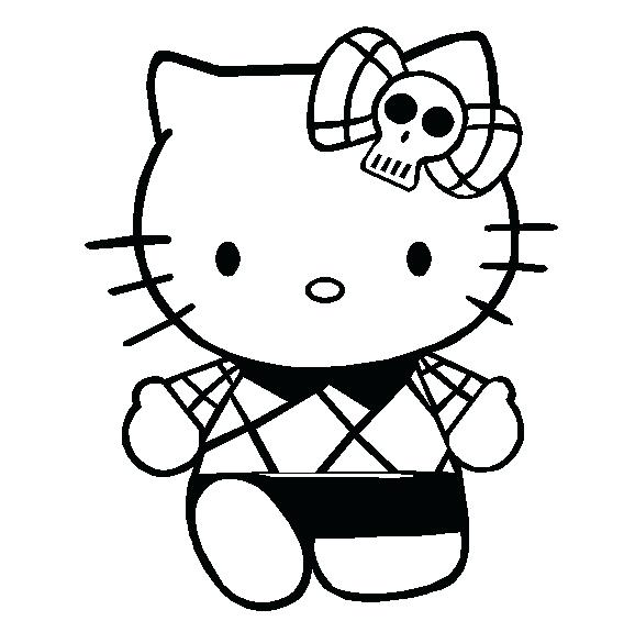 578x565 Coloring Pages To Print Of Hello Kitty Free Printable Hello Kitty