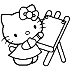 230x230 Hello Kitty Coloring Pages Online Preschool For Sweet Draw Pict