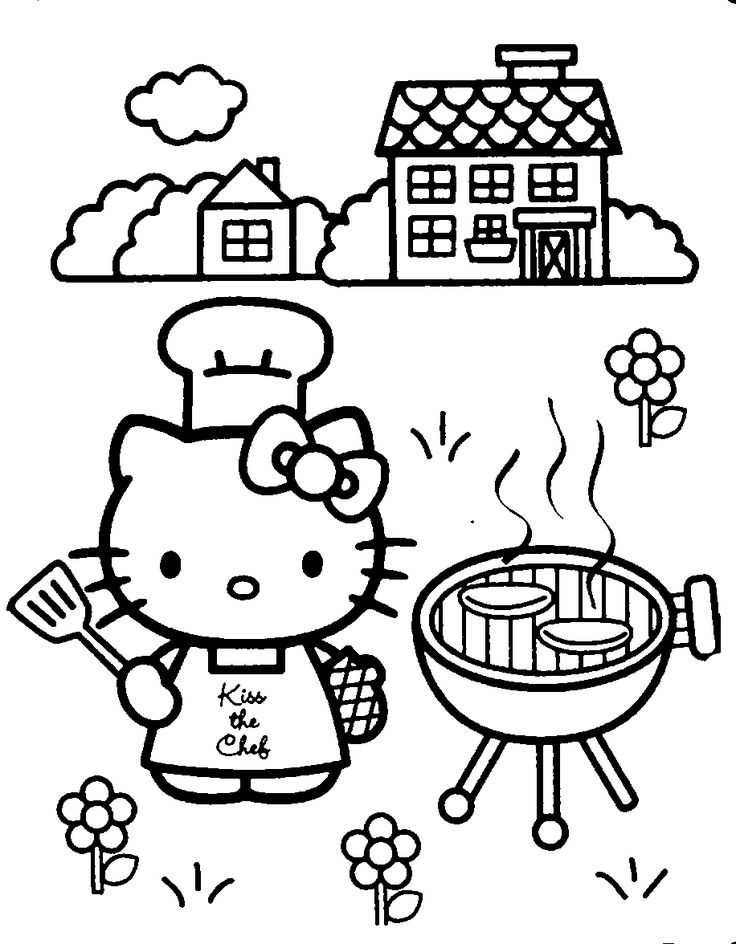 736x944 hello kitty coloring pages to print fourth of july