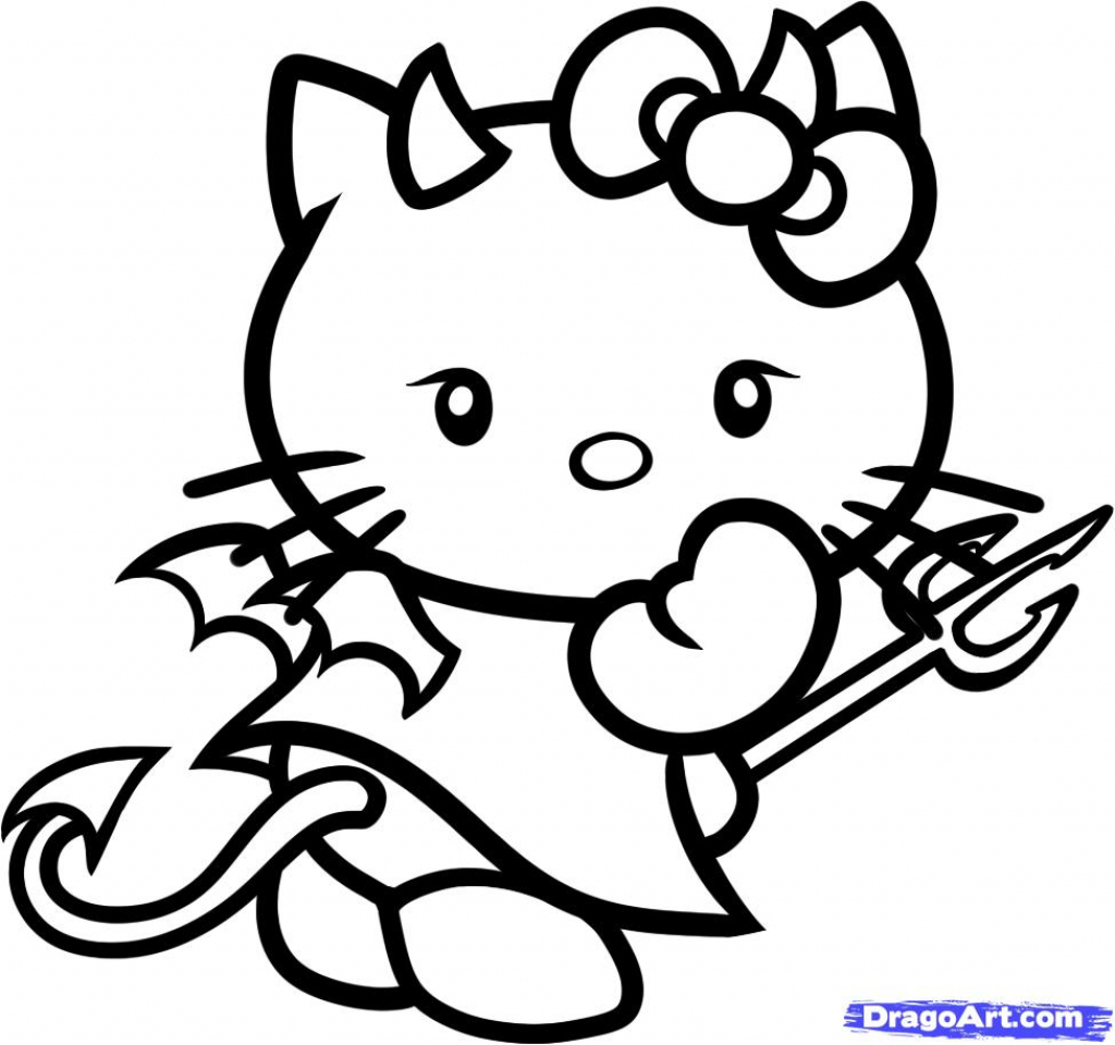 1024x960 Hello Kitty Drawings Drawing Of Hello Kitty