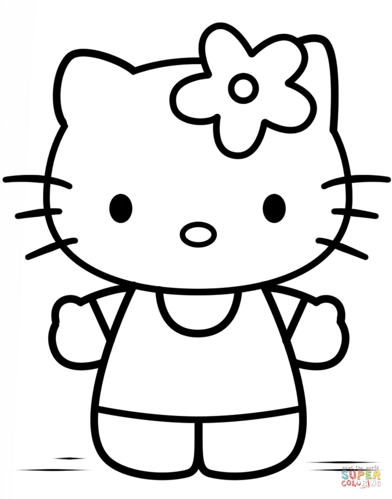 764x973 Hello Kitty Coloring Pages Free