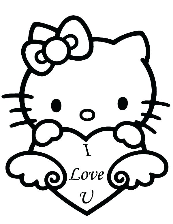 600x776 Color Pages Hello Kitty Hello Kitty Face Coloring Pages Hello