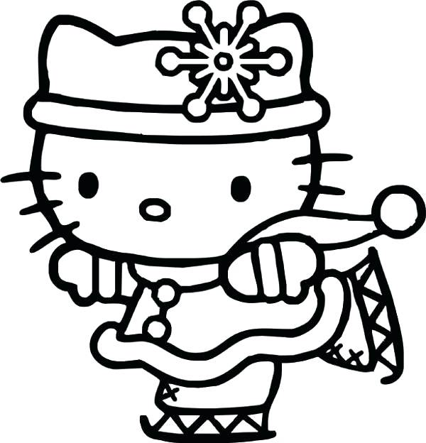 600x624 Coloring Page Hello Kitty Hello Kitty Drawing Coloring Sheets