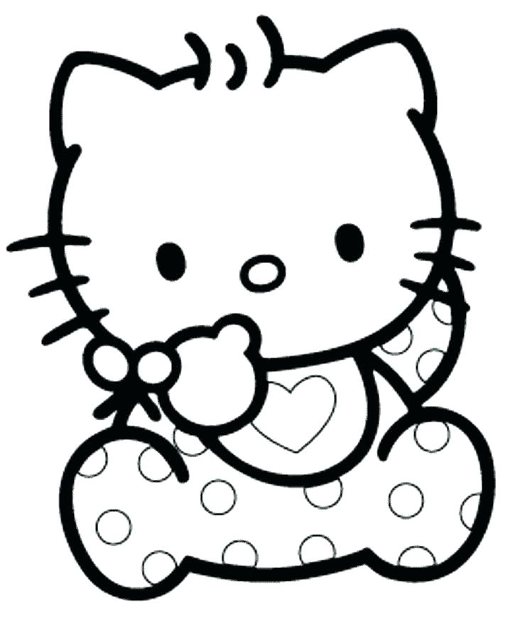 718x889 Coloring Pages To Print Of Hello Kitty Free Printable Hello Kitty