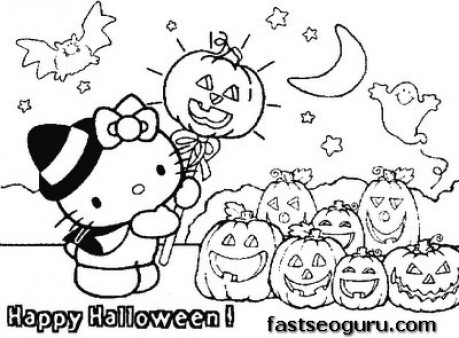 1085x1485 HELLO KITTY COLORING PAGES 459x338 Halloween Hello Kitty Line Drawings Simple Pictures To Draw